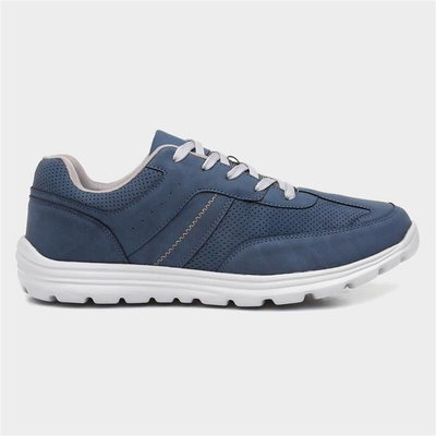 Podium Mens Blue Lace Up Casual Shoe