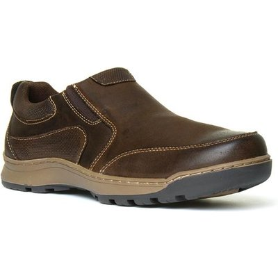 Hush Puppies Jasper Mens Brown Leather Shoe