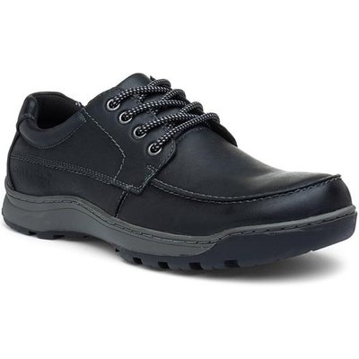 Hush Puppies Tucker Mens Leather Shoe in Black