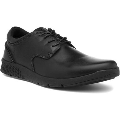Hush Puppies Asher Mens Black Leather Lace Up Shoe