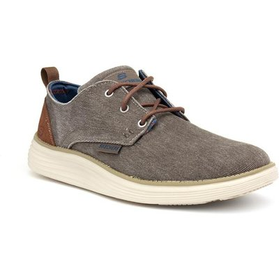 Skechers Prexton Mens Stone Lace Up Canvas