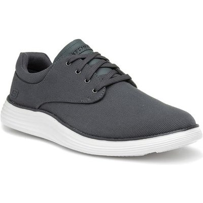 Skechers Mens Charcoal Lace Up Casual Shoe