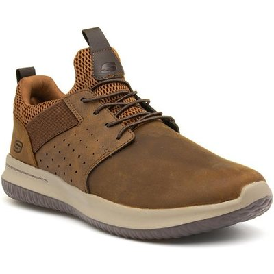 Skechers Delson Axton Mens Brown Lace Up Shoe