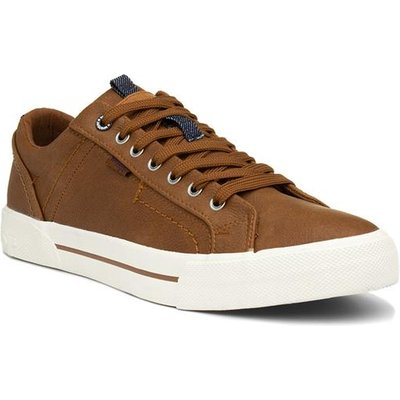 Wrangler Globe Mens Brown Lace Up Shoe