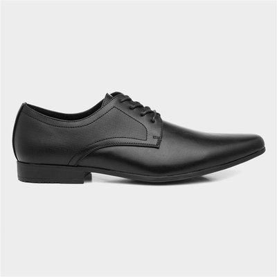 Beckett Mens Black Flat Lace Up Shoe