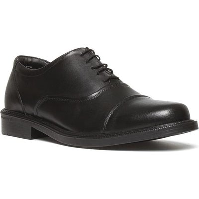 George Oliver Mens Black Leather Lace Up Shoe