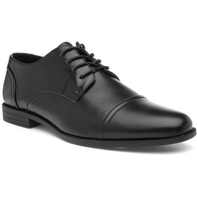 Beckett Mens Black Gibson Style Lace Up Shoe