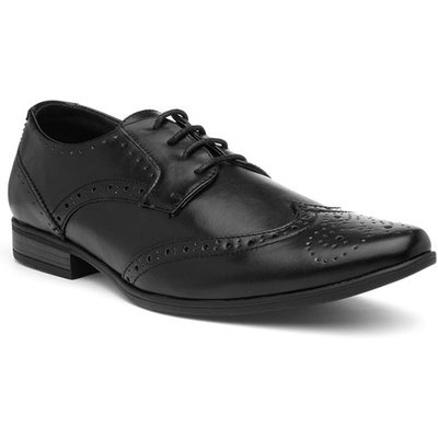 Beckett Mens Black Brogues Lace Up Shoes