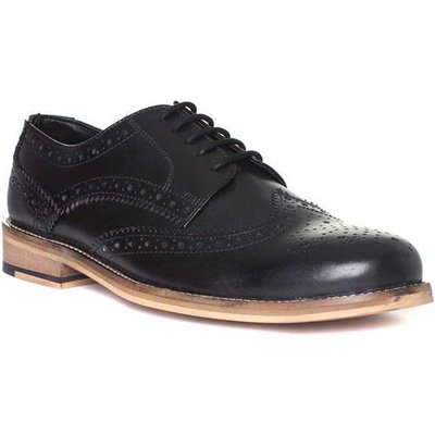 Catesby Mens Leather Lace Up Brogue in Black