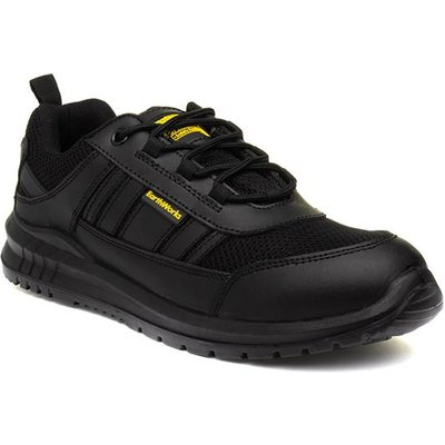 Earth Works Lace Up Safety Shoe in Black