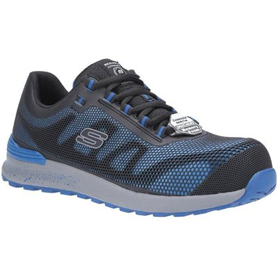 Skechers Mens Bulklin Lace Up Safety Shoe in Blue