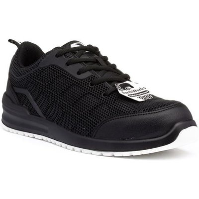 Earth Works Unisex Black Lace Up Mesh Safety Shoe
