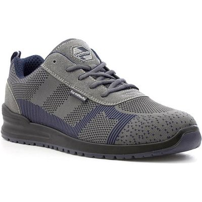 Earth Works Mens Lace Up Safety Shoe in Grey