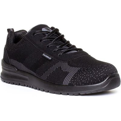 Earth Works Mens Black And Grey Lace Up Safety Shoe