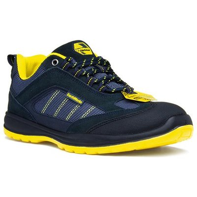 Earth Works Blue And Yellow Lace Up Safety Shoe