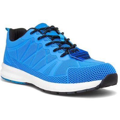Earth Works Mens Blue Lace Up Safety Trainer