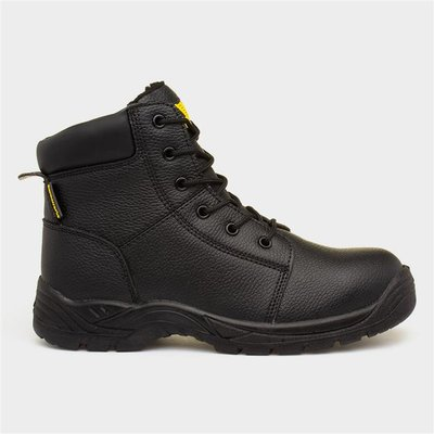 Earth Works Mens Black Safety Boots