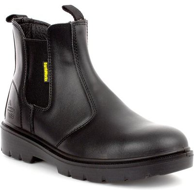 Earth Works Mens Black Leather Chelsea Safety Boot