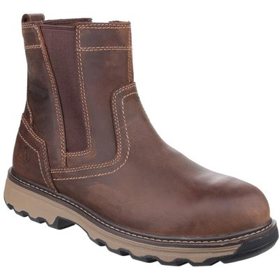 CAT Mens Pelton Safety Boot in Brown