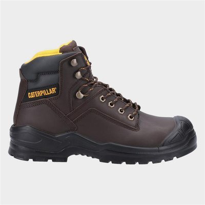 CAT Safety Footwear S3 Mens Safety Boot in Brown