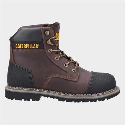 CAT Safety Footwear Powerplant S3 Mens Boot Brown