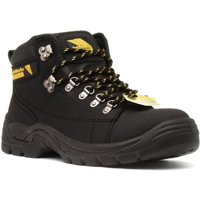 Earth Works Mens Lace Up Black Safety Boot