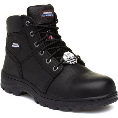 Skechers Workshire Mens Black Lace Up Safety Boot