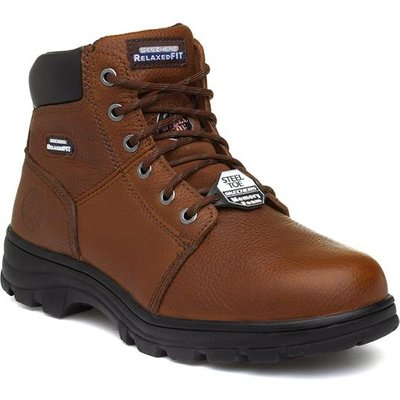 Skechers Workshire Mens Brown Lace Up Safety Boot