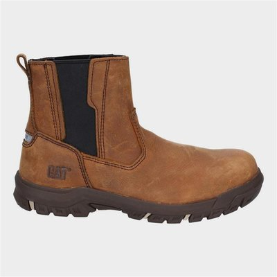 CAT Womens Abbey Slip On Safety Boot in Brown