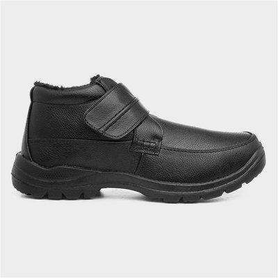 Hobos Mens Black Easy Fasten Casual Boot