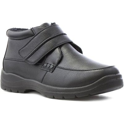 Hobos Mens Black Easy Fasten Casual Boot