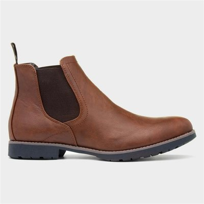 Beckett Mens Slip On Chelsea Boot in Tan
