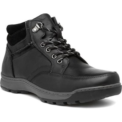 Hush Puppies Grover Mens Black Leather Boot
