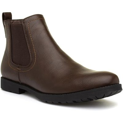 Beckett Mens Brown Pull On Chelsea Boot