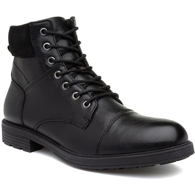 Urban Territory Mens Lace Up Boot in Black
