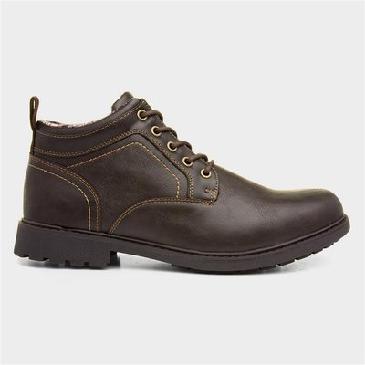 Urban Territory Mens Lace Up Boot in Brown