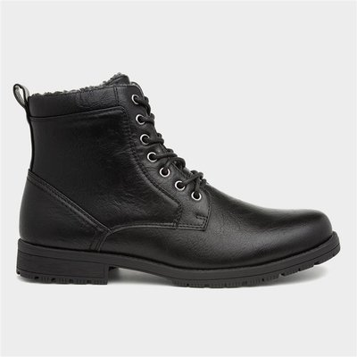 Urban Territory Mens Black Ankle Boots