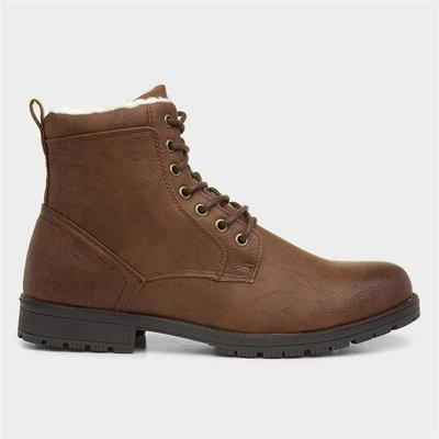 Urban Territory Mens Brown Zip Up Boots