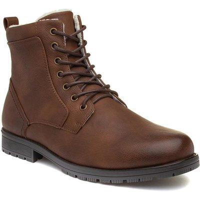 Urban Territory Mens Brown Zip Up Boots