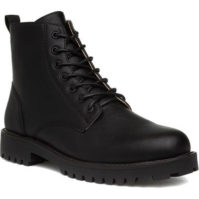 Urban Territory Mens Lace Up Black Boots