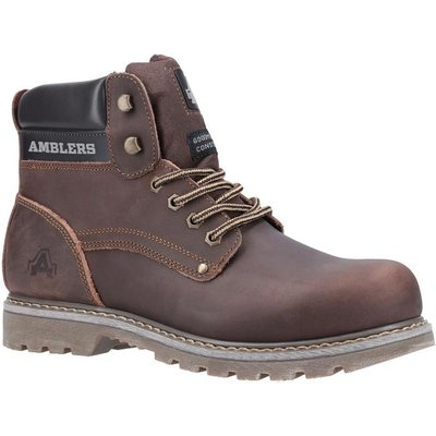 Amblers Safety Dorking Mens Brown Lace Up Boot
