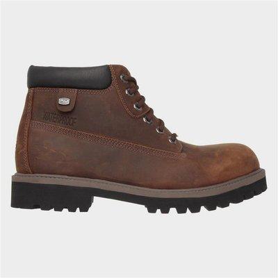 Skechers Mens Sergeants Verdict Boot in Brown