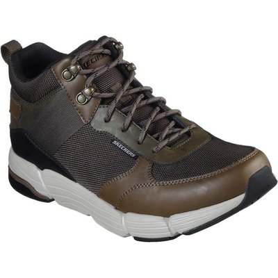 Skechers Mens Metco Mid Top Lace Up Shoe in Khaki