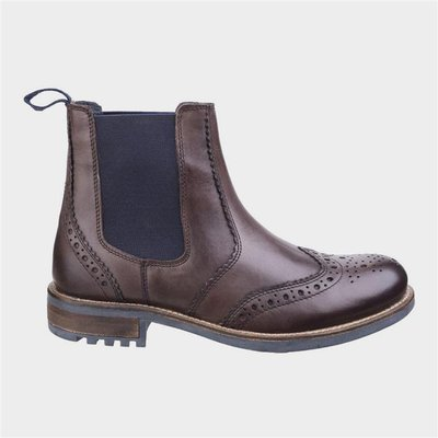 Cotswold Mens Cirencester Leather Boot in Brown