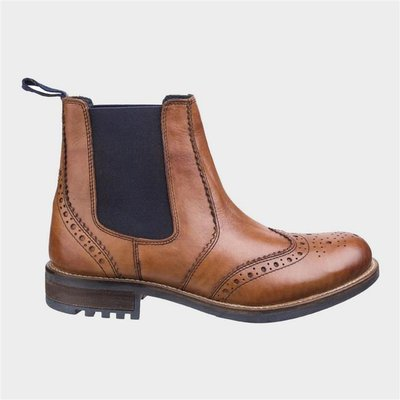 Cotswold Mens Cirencester Chelsea Brogue in Brown