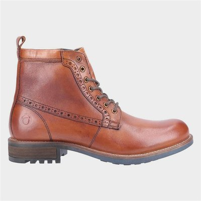 Cotswold Dauntsey Mens Leather Lace up Boot in Tan