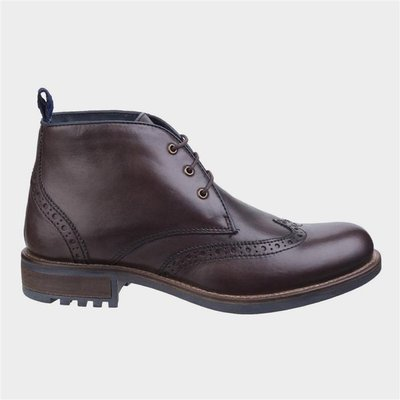 Cotswold Avening Mens Brogue Boot in Brown