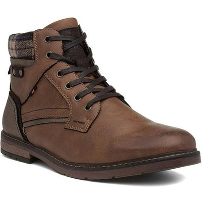 Relife Cognac Mens Brown Lace Up Ankle Boot