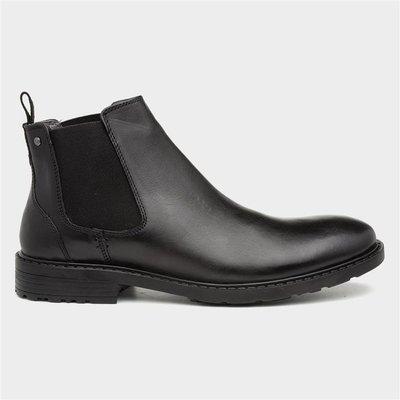 Tred Flex Mens Black Leather Chelsea Boot