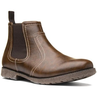 Beckett Mens Brown Slip On Chelsea Boot